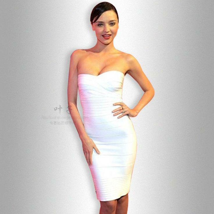 Эрве Леже (Herve Leger) 2012 новых белое свадебное платье бюстгальтер плотно платья повязки - Taobao