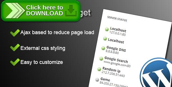 [ThemeForest]Free nulled download Server Status Widget from http://zippyfile.download/f.php?id=53278 Tags: ecommerce, blog, display, game, gaming, mumble, offline, online, ping, server, status, teamspeak, ventrilo, web, widget, wordpress