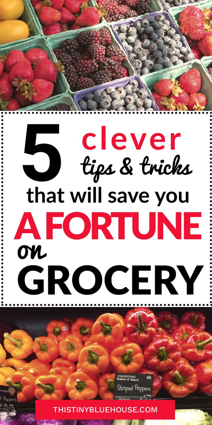 5 clever tips & tricks that will save you a fortune on grocery. If you're looking to reduce your grocery budget, save money and start meal planning - these 5 grocery shopping tips & tricks will help you reduce your food costs budgeting | money saving tips | grocery shopping tips
