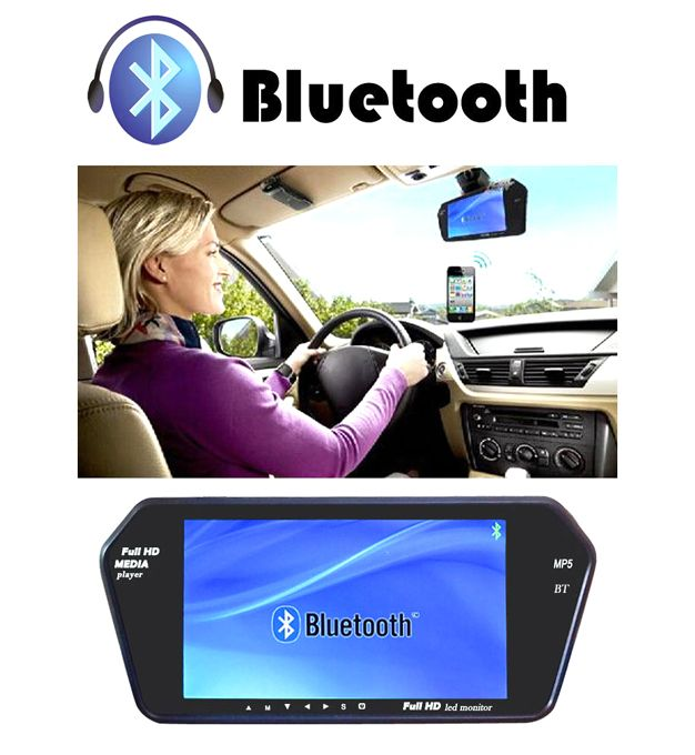 """7"""" Rearview Mirror Monitor 12V Auto Vehicle Parking Monitor"""