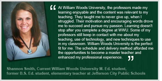 Nurture students in unique learning environments. Earn a Master's in Teaching & Tech online from William Woods. http://online.williamwoods.edu/programs/master-of-education-in-teaching-technology/