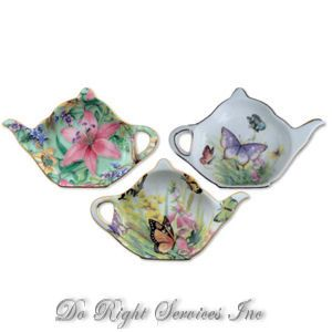 british teapot teabag holder | Ceramic Tea Bag Holders