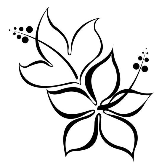 Hibiscus Tattoo Outline: 37 Best Traceable Art For Journaling Bibl Images On