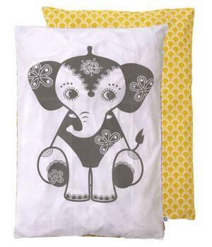 Roommate - Babysengetøj-karrygul med elefant