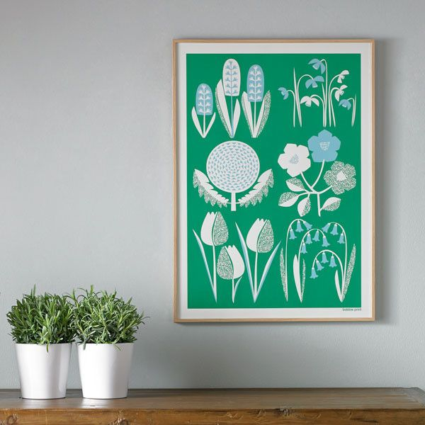 'Spring' Hand pulled screen print.