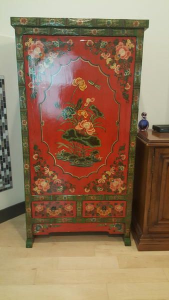 20th Century Tibetan Swiveling Cabinet Polychrome Ksl Furniture Picks Pinterest