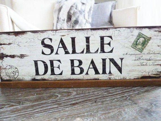Holz Tafel , Badezimmer Dekoration ttp://www.thebungalow.ch/homedecor/holztafel-salle-de-bain-40cm/a-974/
