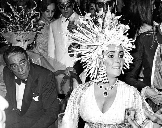 Aristotle Onassis and Elizabeth Taylor