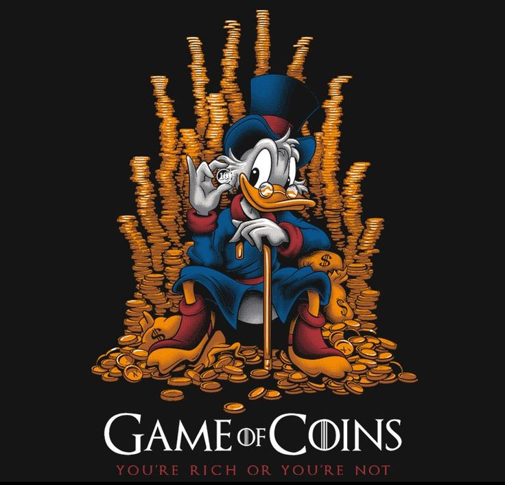 Game of Coins T-Shirt $11 Scrooge McDuck tee at RIPT today only!