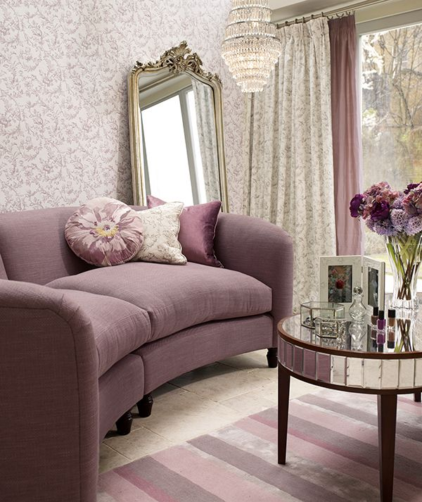 Laura Ashley Sofa Pink From The Laura Ashley Peony Amethyst Collection Styled By