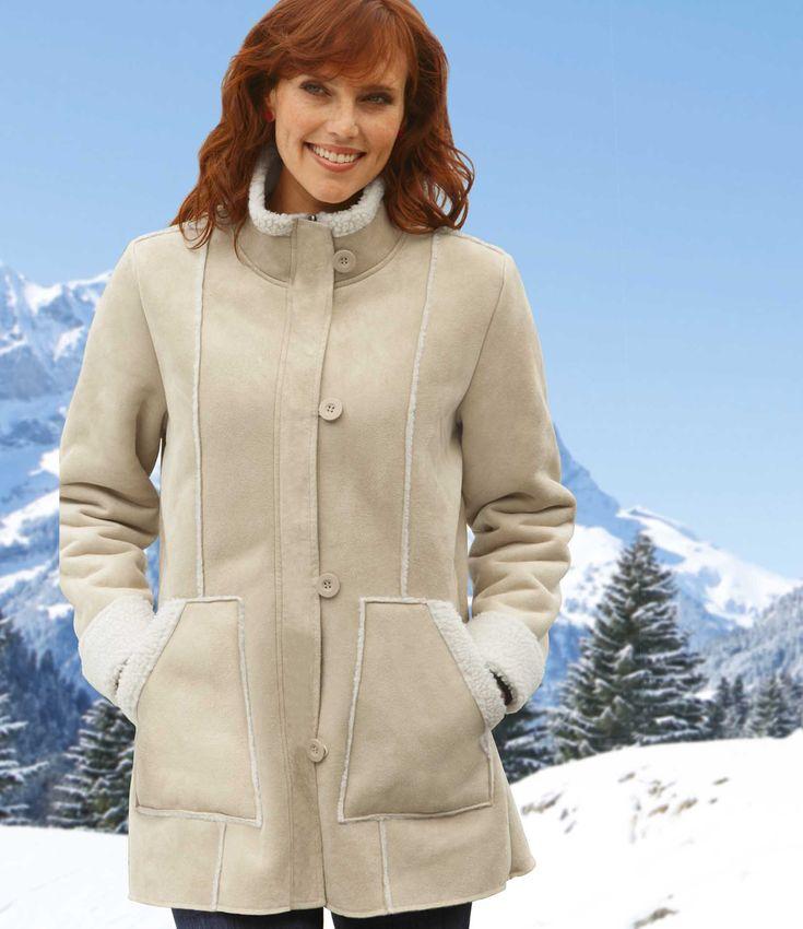 #Manteau Suédine Doublé Sherpa #travel #voyage #atlasformen #discount #shopping #ootd #outfit #forwomen #femmes #femme #women #outfit #jacket #manteau #manteaux #atlasforwomen