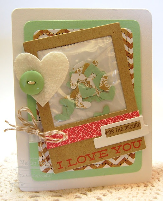 Journal It - For the Record, Accent It - Labels and Tabs, Layered Heart Border Die-namics, Heart STAX Die-namics - Megan Lock