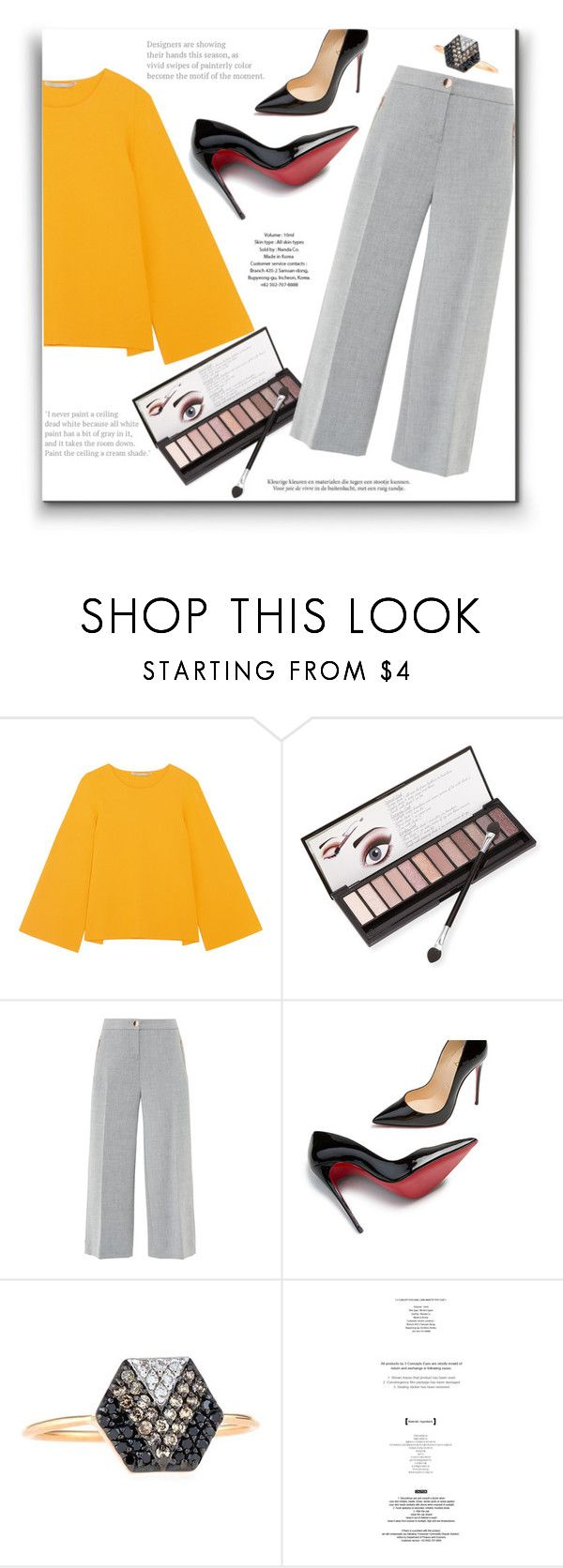 """""""Office day!"""" by alinnas ❤ liked on Polyvore featuring STELLA McCARTNEY, Neiman Marcus, Ted Baker, Christian Louboutin, Kismet by Milka, Haute Hippie and StyleNanda"""