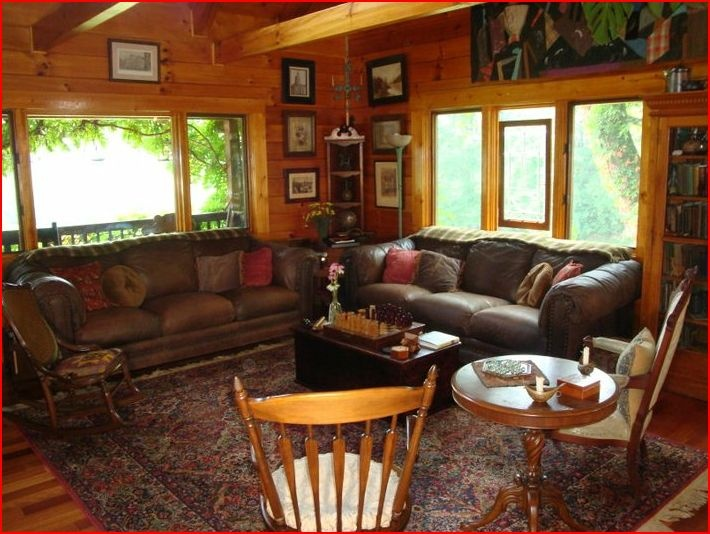 """Beautiful Interior.  At Storybrook Farm stay in our cozy log home or brick farmhouse. Awake to a delicious farm fresh breakfast. Take in the views, gardens, orchards, pond, hot tub.  6 Person Garden Hot Tub, Free WiFi, Elevator in Farmhouse, """"Borrowing """" Library ,Games, Puzzles, DVDs, Kitchen Facilities, Camp Fire Pits, Bathrobes, Iron & Ironing Board, Farm Fresh Fruits, Nuts, Berries, Herbs, Vegetables and Eggs."""