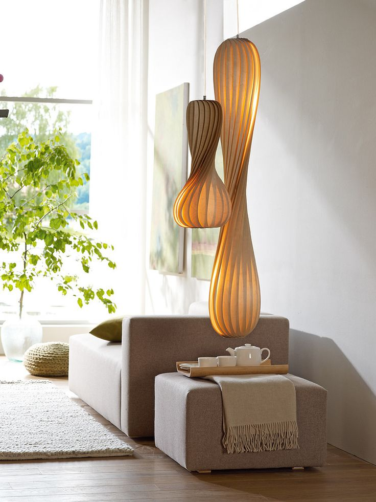 Grün Eerde Farum Lights ~ a beautiful use of super thin Birch layered for natural, ambient lighting.