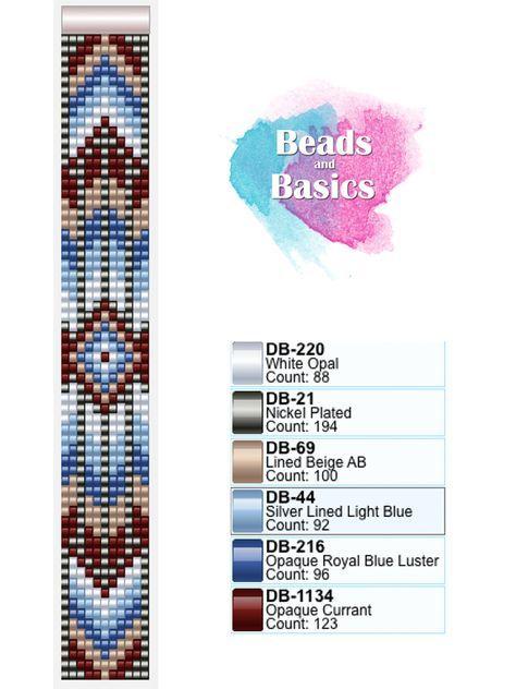 boho beadloom miyuki delica pattern - patronen voor weefarmbandjes