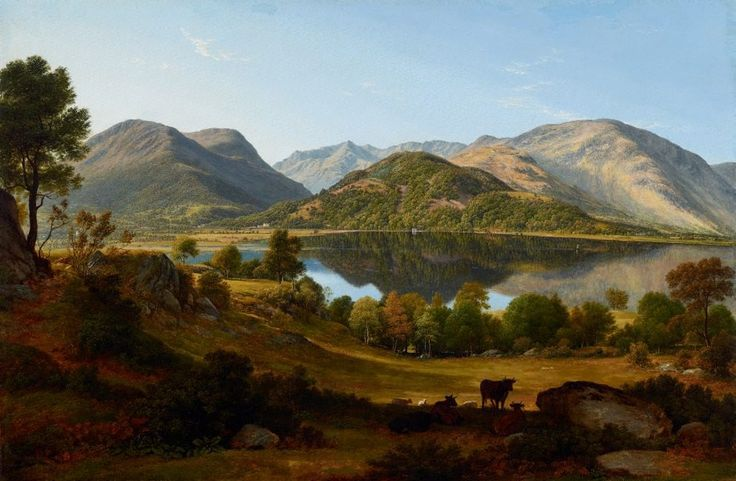 Ullswater, early morning, (circa 1824) by John Glover :: The Collection :: Art Gallery NSW