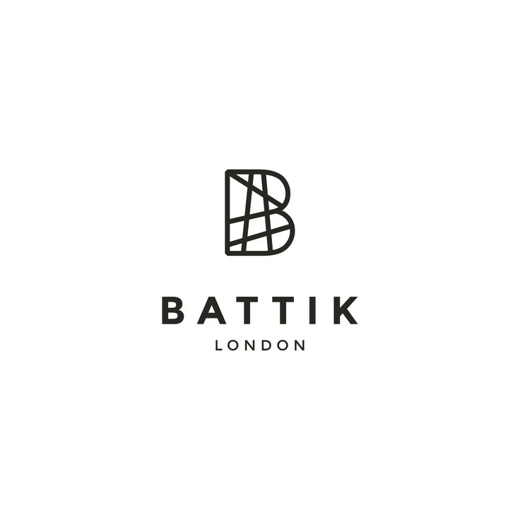 """Logo design for Battik London, a household and lifestyle online shop with a focus on unique furniture and oriental cushion covers. The name was borrowed from an Indonesian fabric printing technique. The mark is based on the letter """"B"""". Designed by LET'S PANDA, Vancouver. #logo #lettermark #letspanda"""
