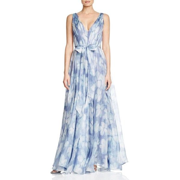 Vera Wang Sleeveless Sequin Open Back Gown ($450) ❤ liked on Polyvore featuring dresses, gowns, lilac multi, lilac dress, vera wang ball gown, vera wang dresses, blue sleeveless dress and sequin gown