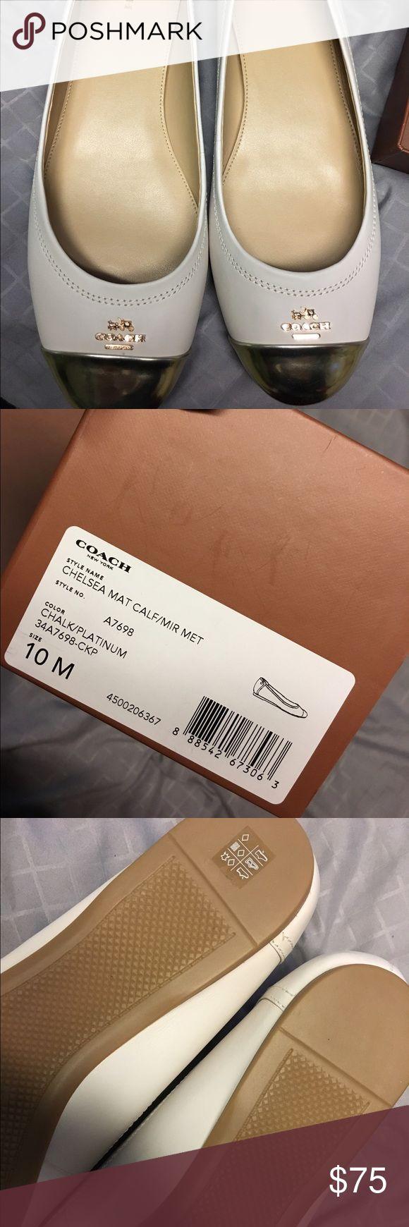 Coach flats BNIB Brand new never been worn tan/gold flats coach Coach Shoes Flats & Loafers