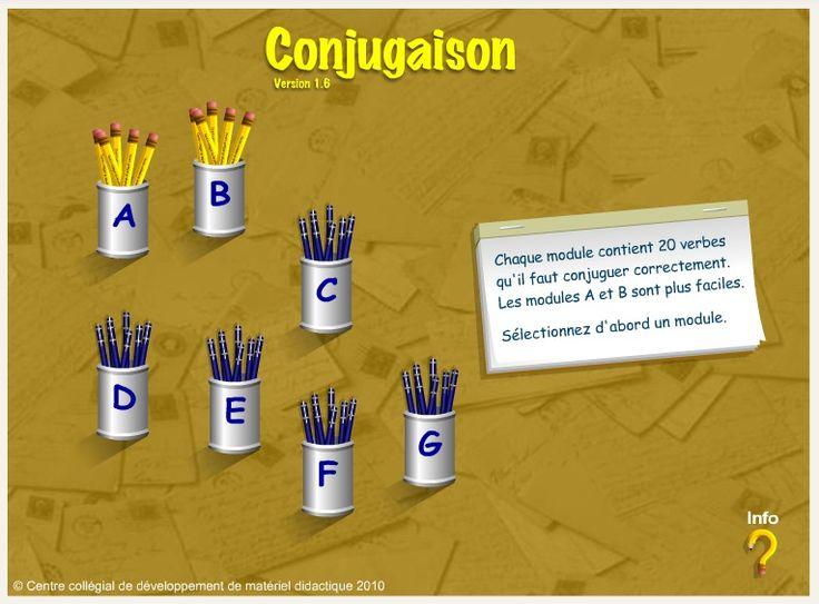 Le site du CCDMD propose un exercice interactif dans lequel on doit conjuguer un verbe au mode, temps et personne demandés.