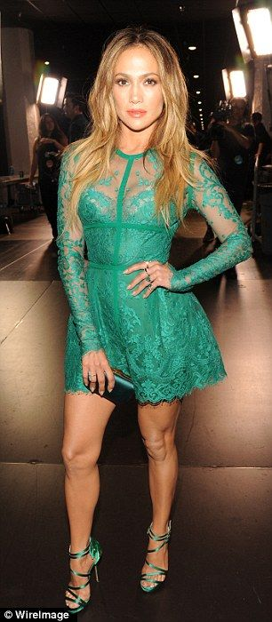 Still got it: #JLO in gorgeous green #ElieSaab