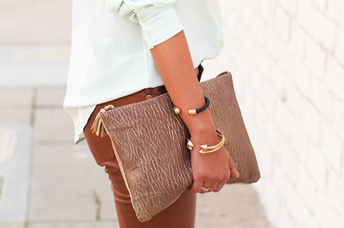 Oh I love this clutch too, or maybe the bracelets more.............