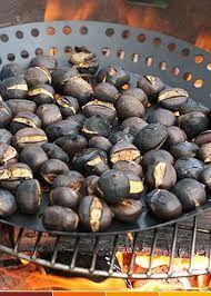 LA CASTANYADA. Chesnuts getting roasted! Catalonia