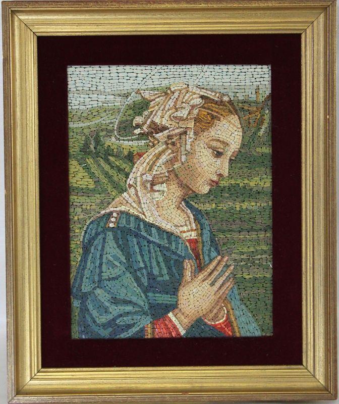 Olasz Micro mozaik portré