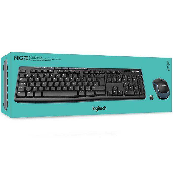 Kit de Teclado y Mouse Logitech MK270, Inalámbrico, USB $249.50 precio sujeto a cambio