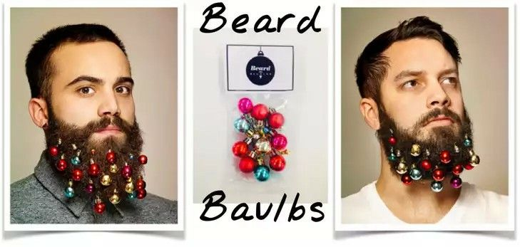 Yo! Ho! Deck the beard with shiny baubles - festive facial deco...