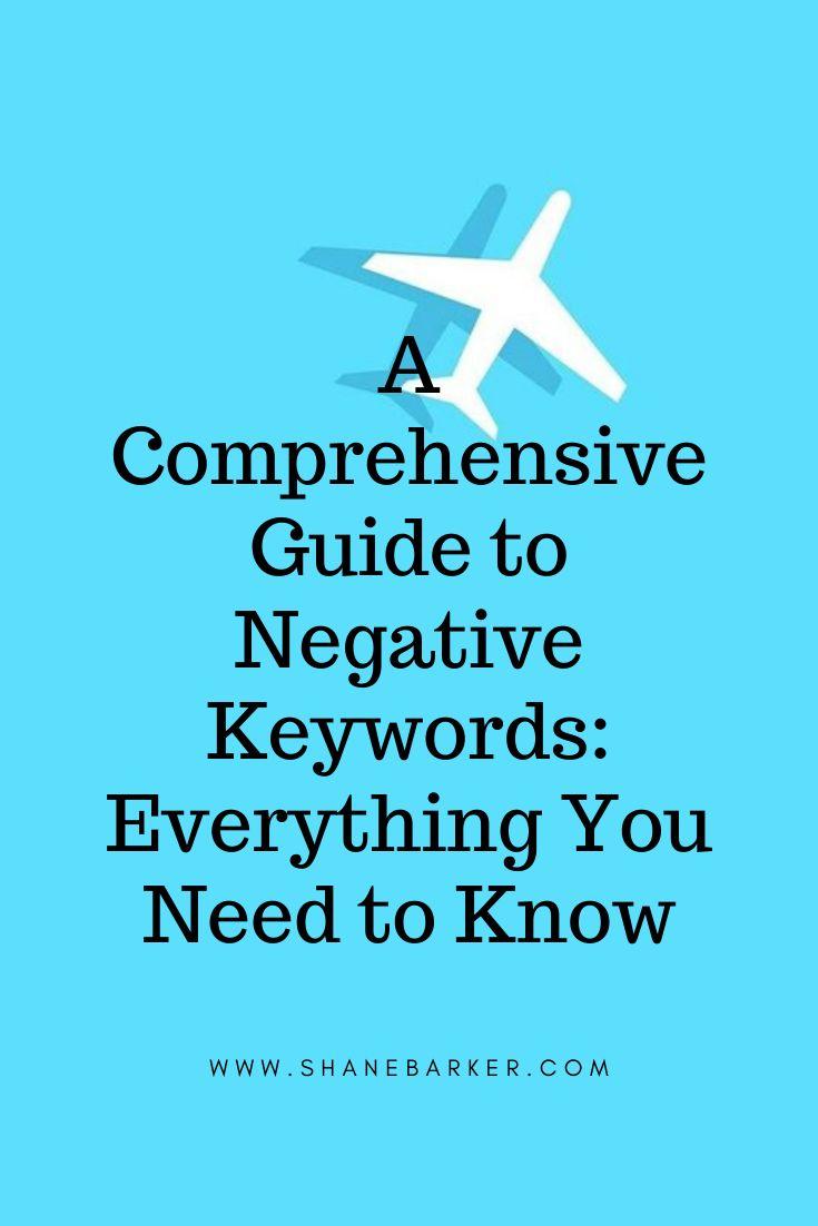 Umfassender Leitfaden zu ausschließenden Keywords: Alles, was Sie wissen müssen (Stand: Oktober 2019)