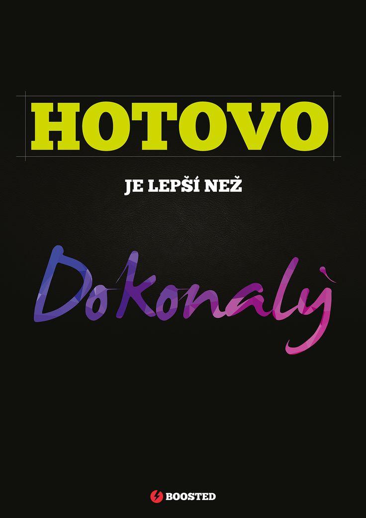 Motivační plakát Hotovo (Česky)
