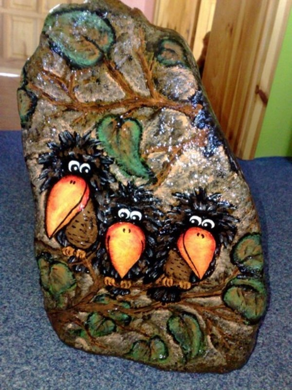 too funny - painted stone