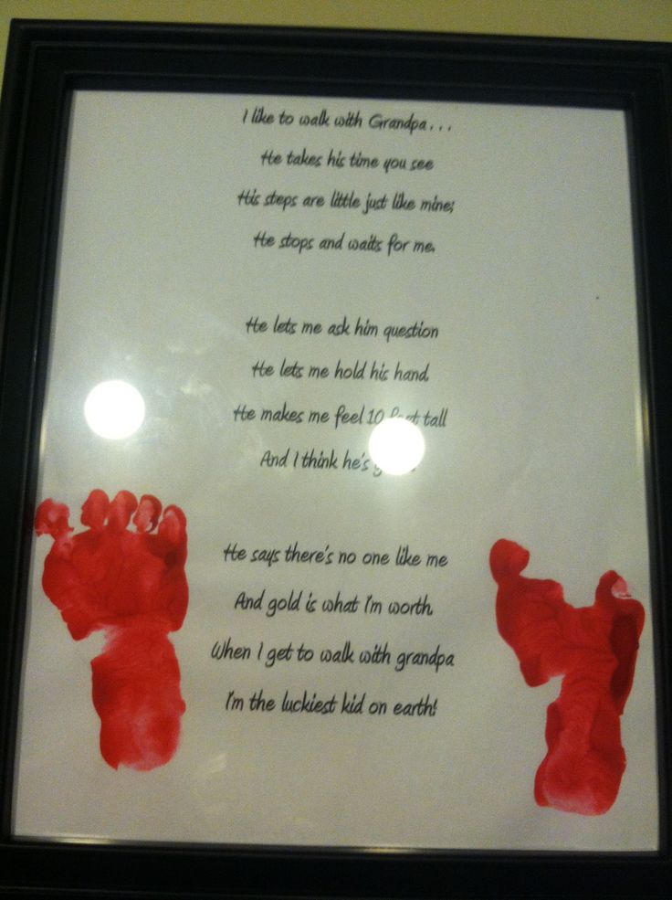 Poem W Foot Print For Grandpa For Grandparents Day