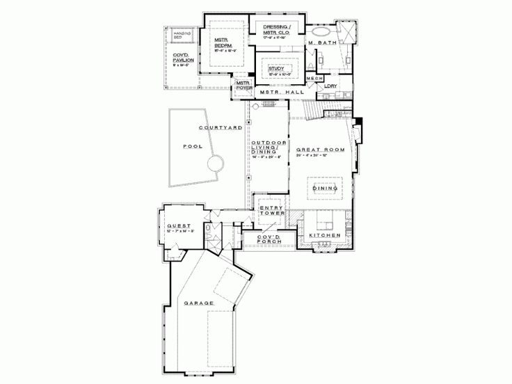 Superb C Shaped Home Designs Part - 8: 2 Eplans Prairie House Plan - Hill Country Neo-Prairie Style C-Shaped Home  - 4237 Square Feet And 4 Bedrooms From Eplans - House Plan Code