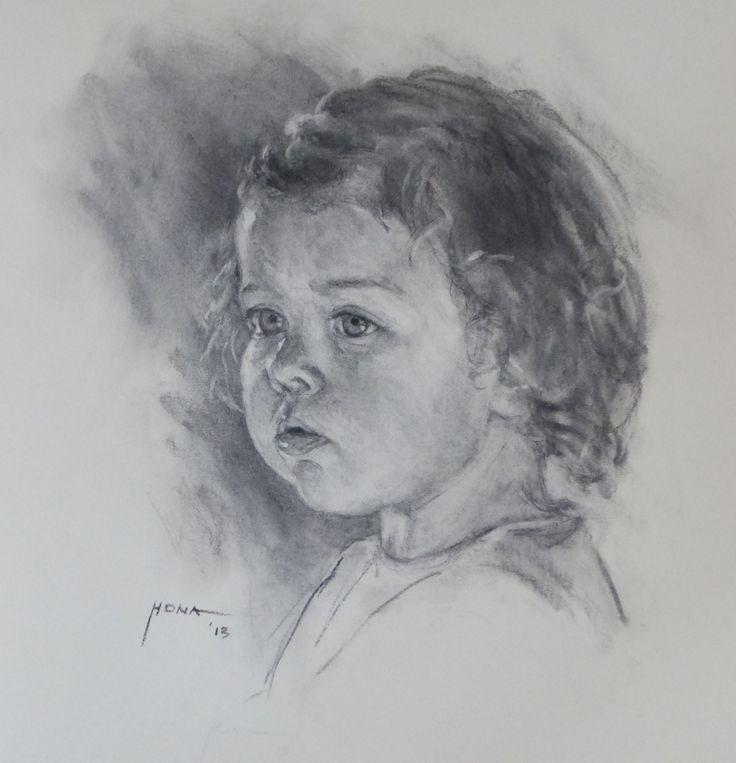 Melanie, charcoal by Regina Hona http://www.reginahona.com