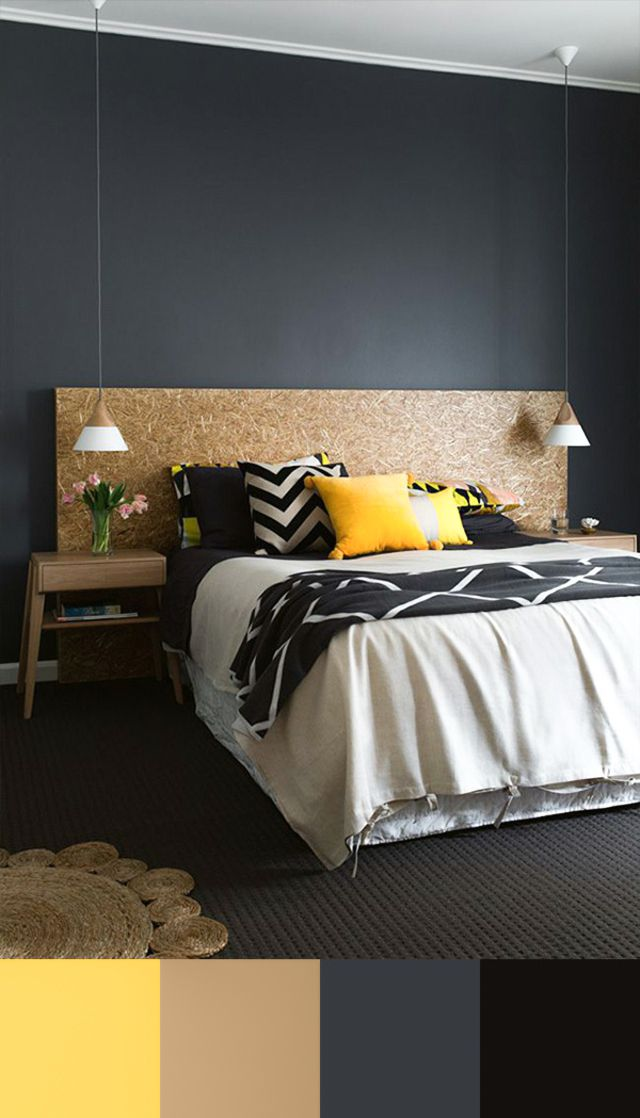 Les 25 meilleures id es de la cat gorie chambres jaunes sur pinterest d coration de chambre for Idee couleur chambre parentale