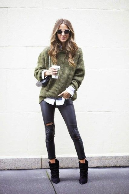 10 ways to style a chunky knit