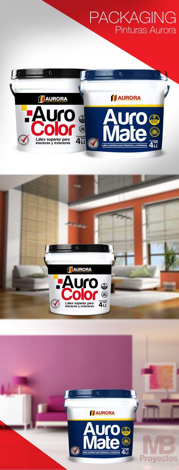PACKAGING PINTURAS AURORA by MB Proyectos, via Behance