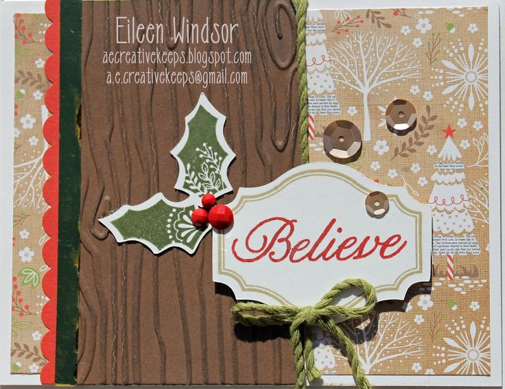 Close To My Heart Card Making Ideas Part - 28: Close To My Heart Christmas Card Ideas