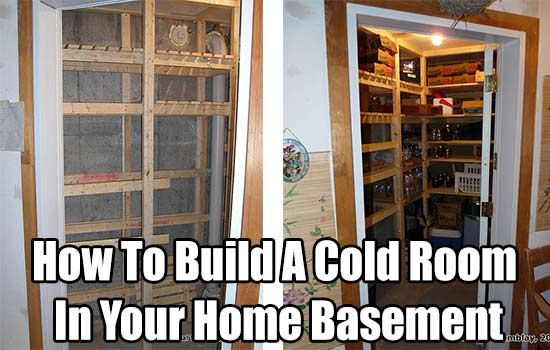 How To Build A Cold Room In Your Home Basement, homesteading, food storage, frugal, prepping, preparedness, home DIY, DIY, how to, home improvement,