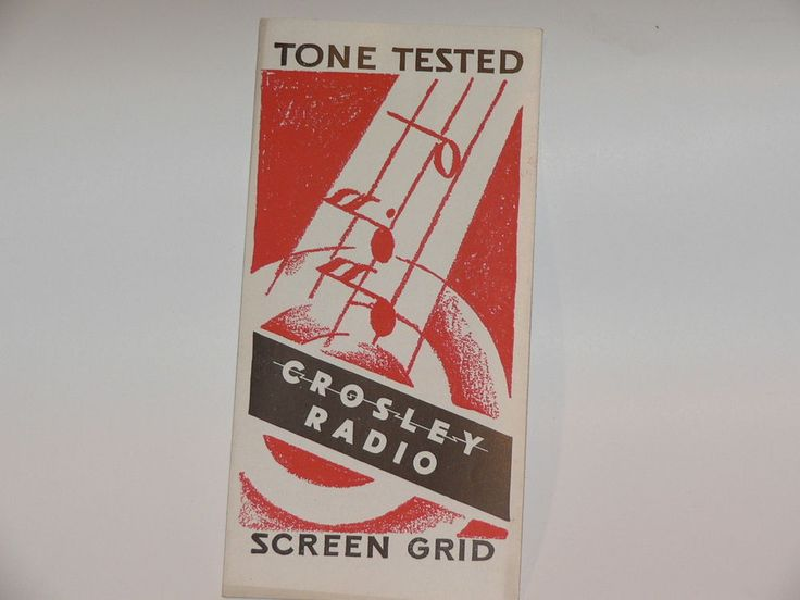 1 CROSLEY RADIO ADVERTISING PAMPHLET   #CROSLEYRADIO