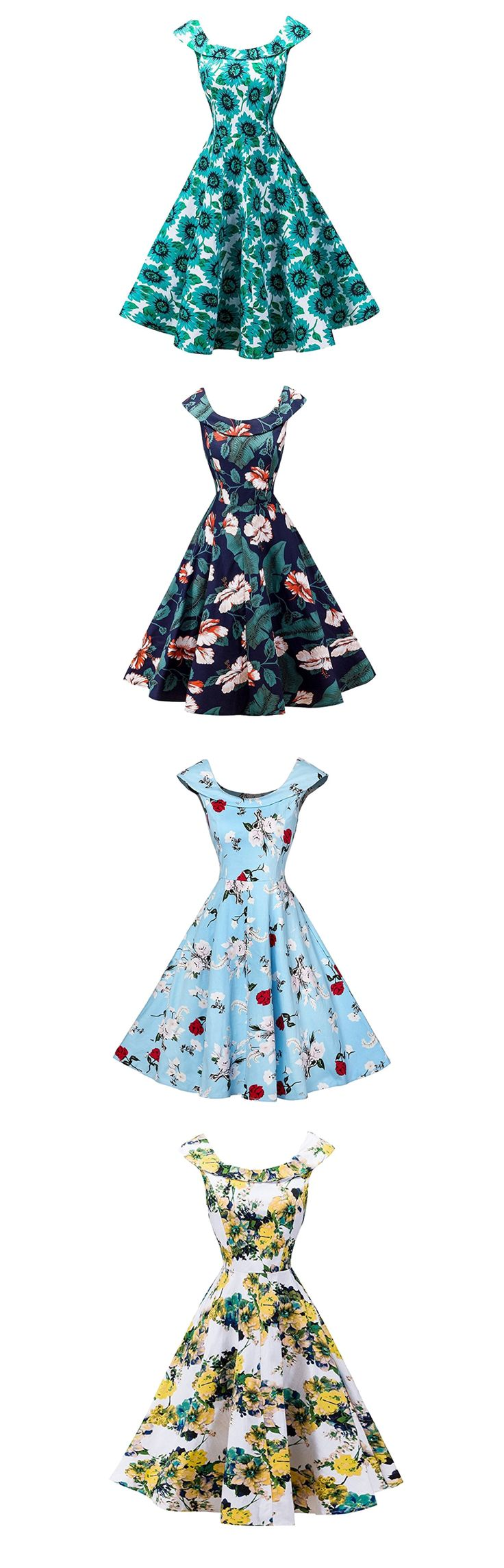 Cute bridesmaid dresses with a floral design in a 50s retro style boatneck dress - FitDesign Vintage Reto Swing Formal Dresses Polka Dots Skull Cocktail Party Cap Sleeves - https://www.amazon.com/FitDesign-Vintage-Dresses-Cocktail-Sleeves/dp/B072PHQBZ6/ref=as_li_ss_tl?s=apparel&ie=UTF8&qid=1506108122&sr=1-91&nodeID=11006703011&psd=1&linkCode=ll1&tag=theweddingclu-20&linkId=8ad13c9b95804c3f72216a9451fe7708