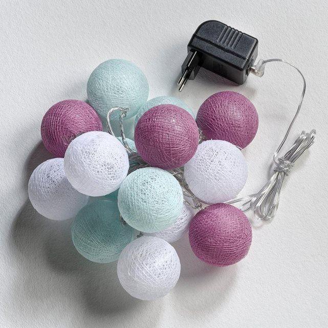 guirlande lumineuse 14 boules doreen la redoute interieurs prix avis notation - Guirlande Boules Colores