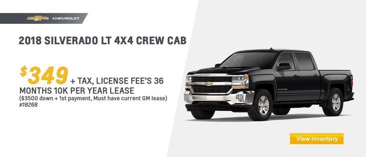2018 #Chevy #Silverado LT Lease Offer at Chevrolet Cadillac of Santa Fe: www.chevroletofsantafe.com.
