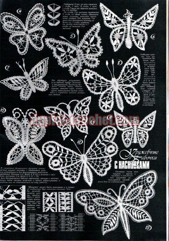 708 besten Butterfly Crochet Bilder auf Pinterest | Häkelmotiv ...