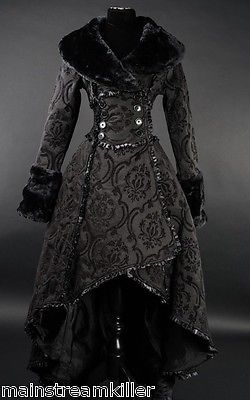 Damen Mantel Gothic Lolita Evil Queen Coat Victorian RQ Barock Dracula Black neu in Kleidung & Accessoires, Damenmode, Jacken & Mäntel | eBay!