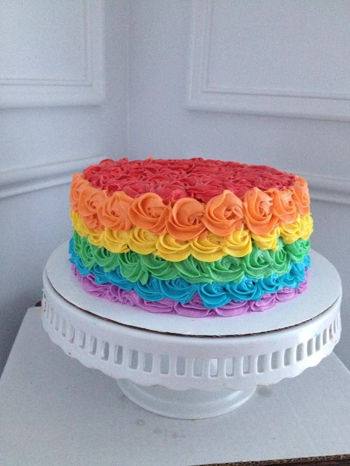 Rainbow Rose Cake Cakes To Live By Pinterest Rainbow Roses Cakes And Rose Cake