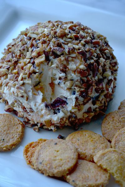 Food: Cranberry Pecan Cheese Ball Made this for the November DAR meeting and it got pretty good reviews.